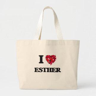 I Love Esther Jumbo Tote Bag