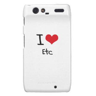 I love Etc Motorola Droid RAZR Case
