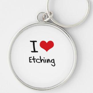 I love Etching Keychain