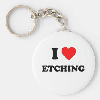 I love Etching Key Chains