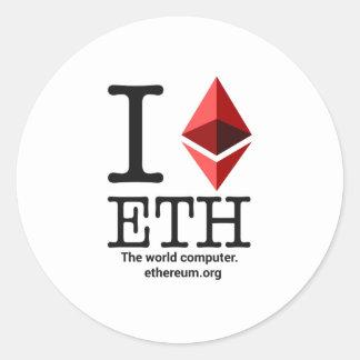 I Love Ethereum Sticker