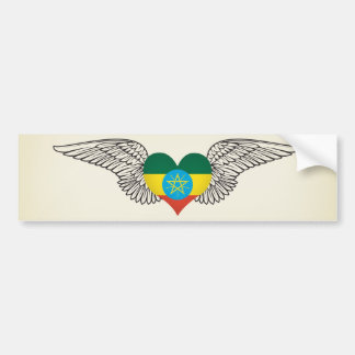 I Love Ethiopia -wings Bumper Sticker