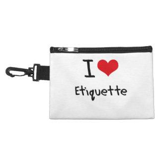 I love Etiquette Accessory Bag