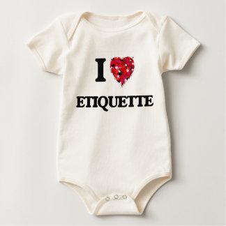 I love ETIQUETTE Baby Bodysuit