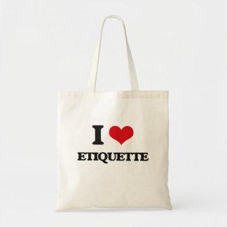 I love ETIQUETTE Canvas Bags