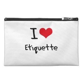I love Etiquette Travel Accessory Bags
