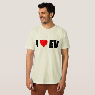 I love EU, Men's American Apparel Organic T-Shirt. T-Shirt
