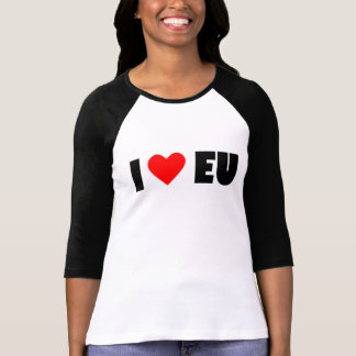 I love EU, Women's Bella+Canvas 3/4 Sleeve T-Shirt