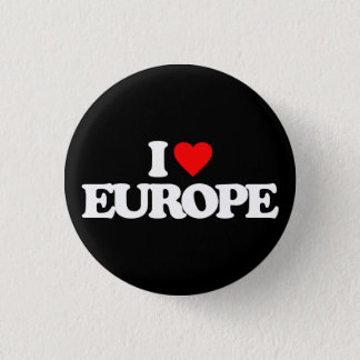 I LOVE EUROPE 3 CM ROUND BADGE