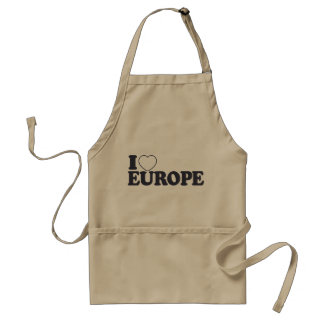 I LOVE EUROPE custom apron