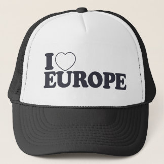 I LOVE EUROPE custom hat - choose color