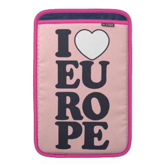 I LOVE EUROPE custom laptop / iPad sleeve