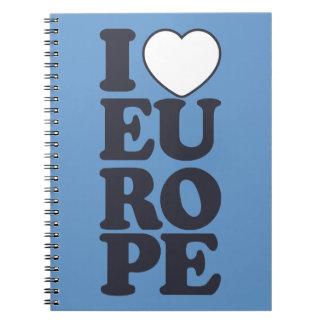 I LOVE EUROPE custom notebook