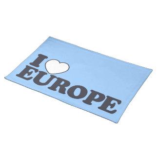 I LOVE EUROPE custom placemat