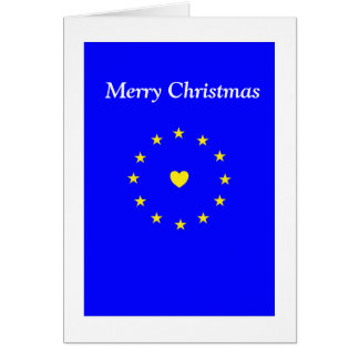 I Love Europe EU Christmas Card