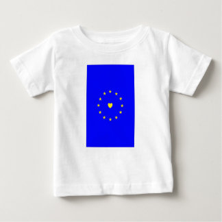 I Love Europe EU Flag with Heart Baby T-Shirt