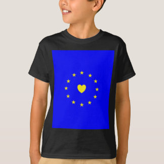 I Love Europe EU Flag with Heart T-Shirt