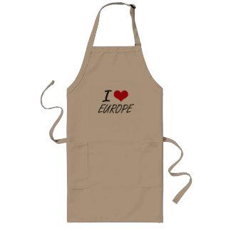 I love EUROPE Long Apron
