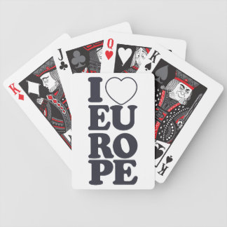 I LOVE EUROPE playing cards