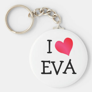 I Love Eva Key Ring
