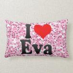 I love Eva Throw Pillows