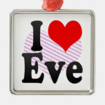 I love Eve Christmas Tree Ornaments