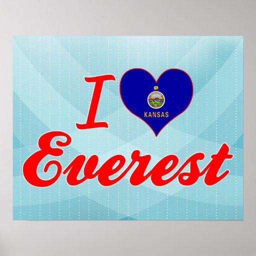 I Love Everest, Kansas Posters