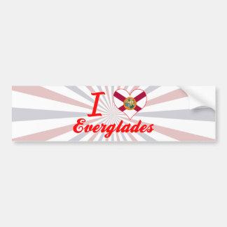 I Love Everglades, Florida Bumper Stickers