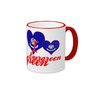 I Love Evergreen, Louisiana Ringer Coffee Mug