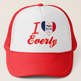 I Love Everly, Iowa Trucker Hat