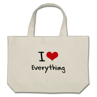 I love Everything Canvas Bags