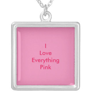 I love everything pink necklace