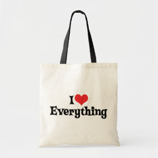 I Love Everything Tote Bag