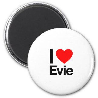 i love evie 6 cm round magnet