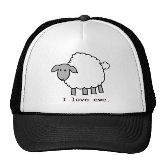 I Love Ewe Sheep Cap
