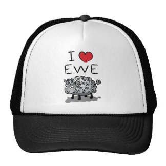 I Love Ewe! Valentines Day Mesh Hat
