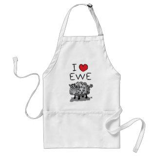 I Love Ewe! Valentines Day Standard Apron
