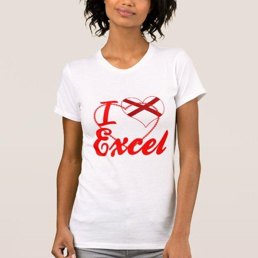 I Love Excel, Alabama Tee Shirt