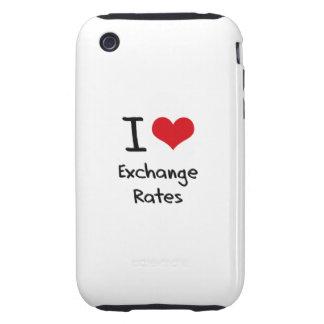 I love Exchange Rates Tough iPhone 3 Case
