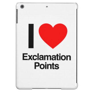 i love exclamation points cover for iPad air