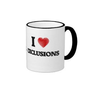 I love EXCLUSIONS Ringer Mug