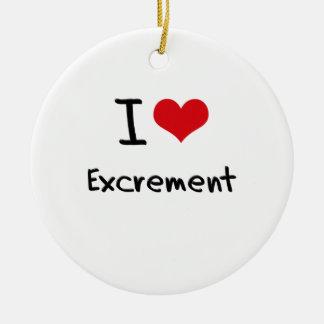 I love Excrement Round Ceramic Decoration