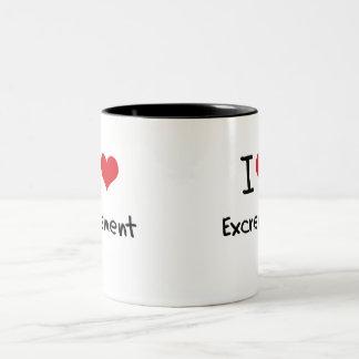 I love Excrement Two-Tone Mug