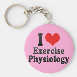 I Love Exercise Physiology Basic Round Button Key Ring