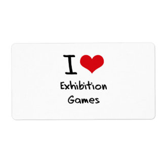I love Exhibition Games Shipping Label
