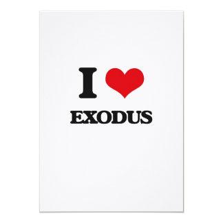 I love EXODUS 13 Cm X 18 Cm Invitation Card
