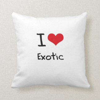 I love Exotic Throw Pillows