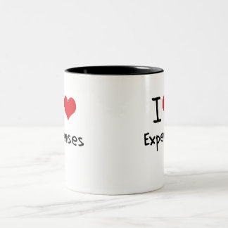 I love Expenses Two-Tone Coffee Mug