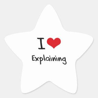 I love Explaining Star Sticker