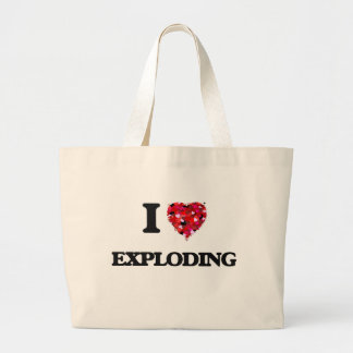 I love Exploding Jumbo Tote Bag